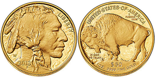 2013 Proof Gold Buffalo