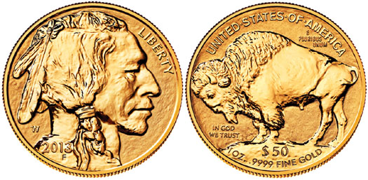 2013 Reverse Proof Gold Buffalo Coin
